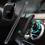 Оригинал NeekinMetalGlassMagnetic3In 1 10W Qi Беспроводное зарядное устройство Быстрая зарядка с Авто Aroma Диффузор Авто Air Vent Phone Держатель для 4.7 дюймов – 6.5 дюй