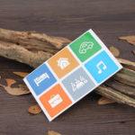 Оригинал 6 шт. Ntag213 13,56 МГц NFC карта с электронными метками полностью совместима с NFC мобильного телефона PET Водонепроницаемы стикер