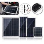 Оригинал 10W / 15W / 20W / 30W 18V DC Гибкая поликристаллическая панель Солнечная с USB-разъемом