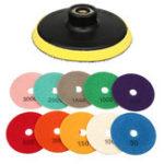 Оригинал 11шт алмазная полировальная подушка 4 дюймов шлифовальный диск для гранита, мрамора, бетона, камня