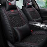 Оригинал (Передний + задний) износостойкая дышащая кожа Авто чехлы на сиденья для пяти мест Авто General Auto Accessories