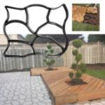 Оригинал Цементный кирпич Плесень Walk Maker 50 x 60 Нерегулярные DIY Бетонные формы Многоразовые пластиковые P ath Maker Steeping Stone Paver