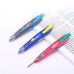 Оригинал KW-triO 3590-2 Портативный Creative Utility Cutter Скоба для удаления скрепок Автоматический закрывающий инструмент Art Work Paper Cutter Инструменты для резки тка