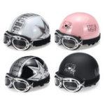 Оригинал Мотоцикл Half Face Helmet Electric Men Женское с очками