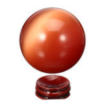 Оригинал Cat Eye Crystals Ball Шар 50-60мм Азиатский Кварц Рок Исцеление Home Decor + Подставка