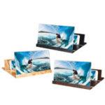 "Оригинал 12 ""Wood Foldable 3D HD Экран телефона Лупа Видеофильм Усилитель Для смартфона iPhone XS Макс Samsung Galaxy S10 +"