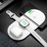 Оригинал Baseus 3 в 1 Qi Беспроводное зарядное устройство с кабелем USB-Type-C Для Qi с поддержкой Мобильные Телефоны iPhone XS Макс. Samsung Galaxy S10 + Apple AirPods серии Apple Watc