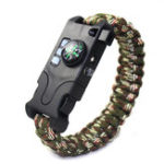 Оригинал 7 in 1 Outdoor EDC Survival Bracelet Infrared Laser LED Flashlight Compass Whistle Reflector Camping Emergency Tools Kit
