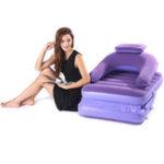 Оригинал 2 в 1 надувной ленивый диван портативный раскладушка односпальные матрасы с воздухом Насос На открытом воздухе Кемпинг