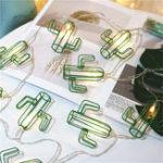 Оригинал 1.5 М 3M Батарея Powered Ins Популярные Зеленый Металл Полый Кактус LED Строка Свет для Украшения Фестиваля Комнаты
