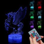 Оригинал  3D Визуальный Ночной Свет LED Сенсорный Дистанционное Управление Подарок Home Party Decor USB Стол Лампа
