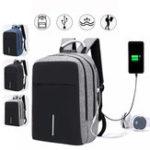 Оригинал Мужчины Рюкзак для мальчиков Рюкзак с портом USB Наушники Hole Travel Hiking