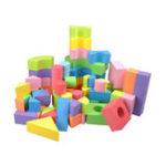 Оригинал 50шт Soft легкий EVA пена в сборе кирпичи DIY модель творческие строительные блоки детские развивающие игрушки