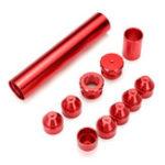 """Оригинал 11шт красный 5/8 """"-24 красный топливный фильтр Набор алюминий для NAPA 4003, WIX 24003"""