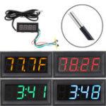 Оригинал 0,56 дюймов 200 В 3 в 1 Время + температура + напряжение по Фаренгейту Дисплей DC7-30 Вольтметр Электронные часы Часы Цифровые Трубка