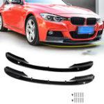 Оригинал 2шт Передний бампер Защитная крышка Губы для BMW F30 3 Series M Style 2012-2018 Передний бампер Только для спортивной версии