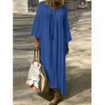Оригинал Женщины Повседневная V-образным вырезом Лоскутная Loose Maxi Платье