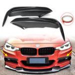 Оригинал Carbon Fiber Racing Front Splitters Lip Fit Автомобильный спойлер Крыло Бампер Протектор Для BMW 3 серии F30 M Sport Sedan 2013-2017