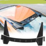 Оригинал Carbon Fiber Тип R Задняя Крыша Автомобиля Крыло Диффузор Окно Багажника Спойлер Для Honda Civic 4 Door Sedan 2016-2018