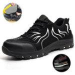 Оригинал Tengoo Мужская защитная обувь Рабочая обувь Steel Toe Водонепроницаемы Дышащие кроссовки с защитой от ударов
