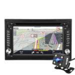 Оригинал 6.2 дюймов Двойной 2 Din Wince Авто DVD-плеер с сенсорным экраном In Dash FM Радио Стерео GPS RDS с задней панелью камера