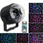 Оригинал 6 Вт LED Кристалл Малый Волшебный Мяч Лампа 6 Цвет Дистанционный Звук Управления Этап Свет для Disco Party Bar AC90-240V