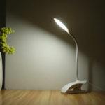 Оригинал Гибкий LED Стол Лампа USB Настольный Держатель Клип На Прикроватный Кабинет Чтение Книги Свет