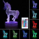 Оригинал 3D LED Night Light USB Лошадь Животных 7 Таблица изменения цвета Стол Лампа Освещение Подарок
