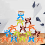 Оригинал 16pcs Wooden Stacking Games Monkeys Interlock Toys Balance Blocks Toys Games Kids Toy Balance Game Toy For Baby Children Gifts