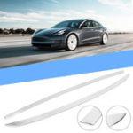 Оригинал Нержавеющая задняя верхняя накладка крышки багажника Авто Литьевая крышка полосы для Tesla Model 3 2018 2019