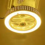 Оригинал 21 дюймов Люстра потолочного вентилятора Кулон Лампа Дистанционный Сроки 3 скорости ветра