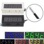 Оригинал 0,56 дюймов 33 В / 200 В 3 в 1 Время + температура + напряжение Дисплей DC7-30 Вольтметр Электронные часы