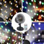 Оригинал 4 LED Проекционный свет этапа На открытом воздухе Рождественская мини-снежинка Лампа с Дистанционное Управление для праздничного праздника