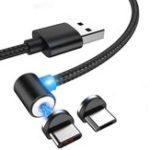 Оригинал Bakeey 2.1A Type-C Микро USB 360 градусов всасывания Рыбалка Магнитный кабель для передачи данных для HUAWEI P30 Oneplus 7 XAIOMI MI9 S10 S10+