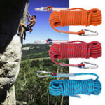 Оригинал 20м х 10мм, двойная пряжка, скалолазание Веревка На открытом воздухе Спорт Туризм Альпинизм Ремень Безопасность на спуске Веревка