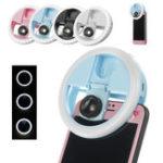 Оригинал USB Selfie Светодиодный Ring Dimmable Лампа Flash Fill Clip камера для Смартфон
