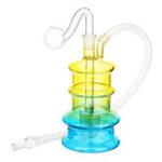 Оригинал  Стеклянный фильтр для воды Труба Colorful Труба для курения T obacco H erbal C igarette Pipes