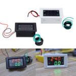 Оригинал AC Трехфазный 500 В 100A LED Двойной Дисплей Вольтметр переменного тока Цифровой измеритель тока Дисплей