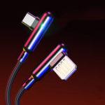 Оригинал CAFELE 3A Type C Быстрая зарядка, 90 градусов, двойной локоть Nylon Плетеный кабель для передачи данных для Oneplus 7 HUAWEI P30 Mate20 XIAOMI MI9 S10 S10+