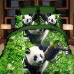 Оригинал 3D Panda Одноместный Двухместный Размер Одеяло Обложка Наволочка Постельное белье Печатный Пододеяльник