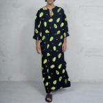 Оригинал Mens Avocado Printing Tunnic Long Платье Халат Топы из кафтана