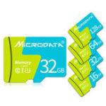 Оригинал MicroData 8 ГБ 16GB 32GB 64GB 128 ГБ Высокоскоростная карта памяти TF класса 10 с адаптером карты для мобильного телефона iPhone Samsung Планшет GPS камера Автомо