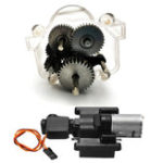 Оригинал WPL 1Set Оригинальные металлические шестерни с переключением скоростей Коробка Для B1 B24 B16 B36 C24 1/16 4WD 6WD Rc Авто Запчасти