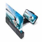 """Оригинал 12 """"3D Экран телефона Лупа Фильм Видео Экран Усилитель С Bluetooth Динамик для смартфона iPhone Samsung Huawei Xiaomi"""