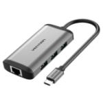 Оригинал Vention CNCHB Type-C для HDMI + RJ45 + USB3.0 * 3 + PD Converter Type-C Многофункциональный адаптер-концентратор