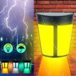 Оригинал 6 LED Солнечная Электрический настенный светильник На открытом воздухе Водонепроницаемы Уличный двор Сад Безопасность Лампа
