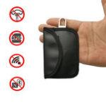 Оригинал Блокировка сигнала автомобиля ключ Чехол Фарадея Кейдж Fob Чехол Keyless PU кожа Сумка 10,5 X 6,5 см