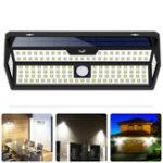 Оригинал 132 LED Солнечная Настенный светильник 4 Side Motion Датчик IP65 На открытом воздухе Двор Сад LED Лампа