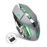 Оригинал HXSJ M70GY 2400DPI 2.4G 6D Colorful Беспроводная аккумуляторная игровая подсветка с подсветкой Мышь для Anne Pro 2 ноутбуков ПК