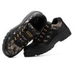 Оригинал Мужская защитная обувь Steel Toe Водонепроницаемы Нескользящая походная походная обувь Кемпинг Рыбалка Рабочая обувь